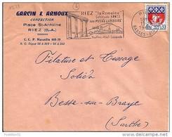 04 - ALPES DE HAUTE PROVENCE -  RIEZ  - SECAP - 1962/65 - Postmark Collection (Covers)
