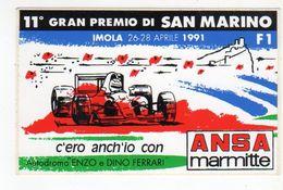 Imola  1991 - 11° Gran Premio Di San Marino  - - Stickers