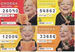 SERIE COMPLETA 4 DIBUJOS DE LOTERIA DE LA GROSSA DE SANT JORDI DEL AÑO 2017 (LOTO) LOTERIA DE CATALUNYA - Billetes De Lotería