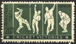 INDIA STAMPS, 30 DEC 1971, CRICKET, MNH - India