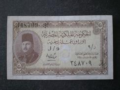 Billets Bills Banknotes EGITTO مصر EGYPT  5 PIASTRES 1940 SERIE J/9 - 348709 - Egipto