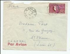 VIET NAM - TIMBRE SUR ENVELOPPE POUR SAINT ETIENNE FRANCE CAD DALAT 1960? - Viêt-Nam