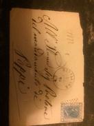 1872 Frontale Di Busta 20 Cent Azzurri Da Sinalunga (SI) A Poppi (AR) - Storia Postale