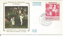 Monaco Notre Dame Des Fontaines 4 Décembre 1972 - FDC
