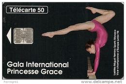 CARTEà-PUBLIC-MONACO-50U-MF32-SC7-10/94-GALA GRACE GYM-UTILISE-BE - Monaco