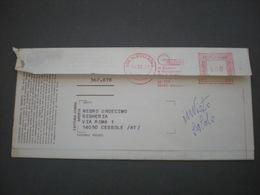 ALESSANDRIA 1977  EMA Fattura Commerciale Aperta CEMM  Lire 160 Affr. Meccanica Rossa - Affrancature Meccaniche Rosse (EMA)