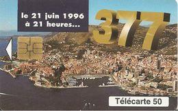 CARTEà-PUCE-MONACO-MF41-50 U-05/96-SO3-377-CHANGEMENT DE NUMERATATION-JG-UTILISE-TBE - Monaco