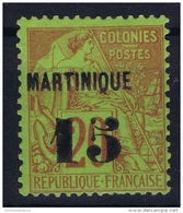 Martinique:  Yv Nr  5 MH/* Falz/ Charniere  Signed/ Signé/signiert Miro - Nuovi