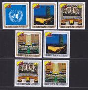 BHOUTAN N°  314 à 317, AERIENS N° 93 à 95 ** MNH Neufs Sans Charnière, TB (D4435) Admission Du Bhoutan Aux Nations-Unies - Bhoutan