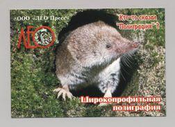 ANIMALS Pocket Calendar 2008 UKRAINE Fauna Shrew Mouse - Calendars