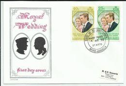 ROYAL WEDDING/SILVER JUBILEE/QUEEN ELISABETH 2 - LOT DE 50 FDC DIFFERENTS PAYS POUR ETUDE - 100 SCANNS RECTO VERSO - Timbres