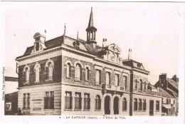 AISNE 02.LA CAPELLE LOT DE 3 CARTES PORTE DU JARDIN PUBLIC MONUMENT AUX MORTS L HOTEL DE VILLE - France