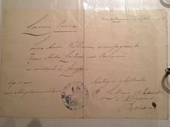 LAISSEZ PASSER à CONTAY (80) Pour Un Couple Se Rendant à LONGPRE Le 2 SEPT 1914 - Seals Of Generality