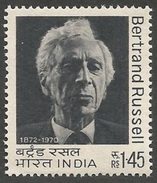 INDIA STAMPS, 1972, BERTRAND RUSSELL, MNH - India