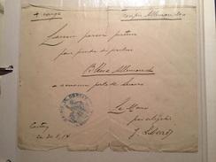 LAISSEZ PASSER à CONTAY (80) Pour EVACUATION BLESSE ALLEMAND 30 AOUT 1914 - Seals Of Generality