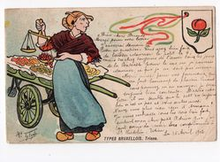 83  -  ILLUSTRATEUR - TYTGAT - Types Bruxellois  - TRIENE   *métier*  Marchande De Fruits * - Illustratoren & Fotografen