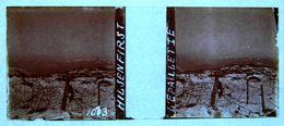 PHOTO STEREO SUR PLAQUE DE VERRE - ALSACE - HILSERFIRST - L'EPAULETTE - 10,6 X 4,4 Cm - Stereoscopic