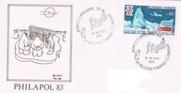 PHILAPOL 83  TAAF 31  Cachet SFPP 15-16/10/83  Dessin PEV - Brieven En Documenten