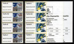 RARE!!! ESPAÑA SPAIN ESPAGNE 2018 EUROPA SYMPATHY + CASA DE CORREOS 4x2 ATM Franking Labels MNH ** - Ideas Europeas