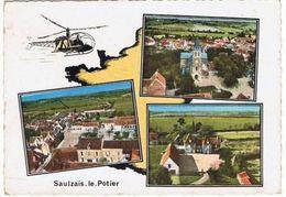 Saulzais Le Potier.18. Eglise. Mairie Et + 3 Vues Aerienne .1973. - Autres Communes