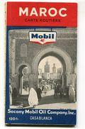 Carte Routière Du Maroc MOBIL 1956 - Roadmaps