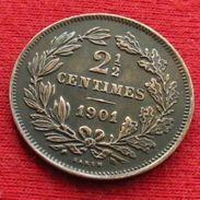 Luxembourg 2 1/2 Centimes 1901 KM# 21 Luxemburgo - Luxembourg