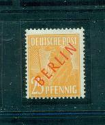 Berlin Rot Auf Arbeiterserie, Postfrisch ** Nr. 27 - Berlin (West)