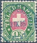Telegraph 17, 1 Fr.grün/rosa  RAGAZ           1885 - Télégraphe