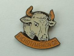 PIN'S VACHE FICHOT / MEHUN 92 - Animals