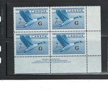 "CANADA 1951 - 1953 ""CANADA GOOSE"" #O31  PB#2 LR  MNH $17.50 - Officials"