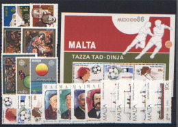Malta 1986 Annata Completa / Complete Year Set **/MNH VF - Malte