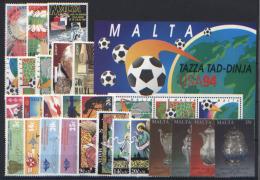 Malta 1994 Annata Completa / Complete Year Set **/MNH VF - Malte