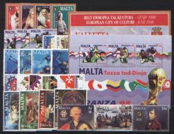 Malta 1998 Annata Completa / Complete Year Set **/MNH VF - Malte