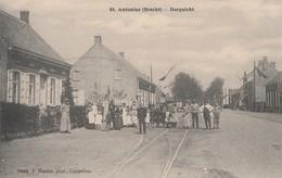 St  Antonius ,(Brecht) , Dorpzicht,(Photo Hoelen ,Cappellen , N° 7050 ) ,rail Tram Vicinal CACHET ?? étoile+fortune ???? - Brecht