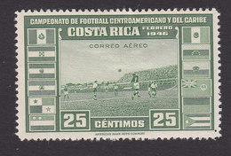 Costa Rica, Scott #C121, Mint Hinged, Soccer Field, Issued 1946 - Costa Rica