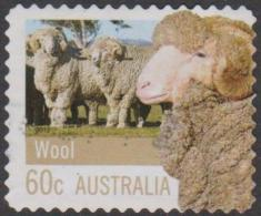 AUSTRALIA - DIE-CUT-USED 2012 60c Farming Australia - Wool, Perforation 11x11 - Sheep - Usati