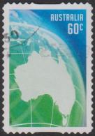 AUSTRALIA - DIE-CUT-USED 2013 60c Memorable Moments - Australia And Globe - Green - Usati