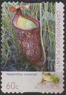 AUSTRALIA - DIE-CUT-USED 2013 60c Carnivorous Plants - Nepenthes Rowance - Usati
