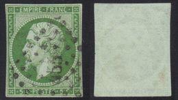 Napoléon N°12, Oblitération PC 455, Ni Clair Ni Aminci. - 1853-1860 Napoléon III