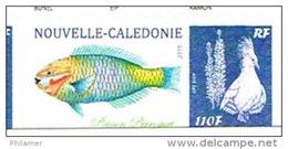 Nouvelle Caledonie Timbre Personnalise Timbre A Moi Prive BUNEL Poisson Perroquet 2015 Cagou Ramon Neuf - Other