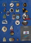 Lot De 23 Pin's  POLICE Et GENDARMERIE - Police