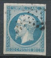 N°14 OBLITERATION BELLE FRAPPE - 1853-1860 Napoleon III