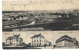 ALLEMAGNE GESAMTANSICHT VON SINGEN A.h. MULTIVUES 1915 CPA 2 SCANS - Singen A. Hohentwiel