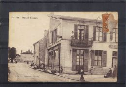 9102. VILLABE . MAISON DESASSIS .  RECTO/VERSO. ANIMEE . TABAC. EPICERIE . DRAPEAU . ANNEE . 1930. - Other Municipalities