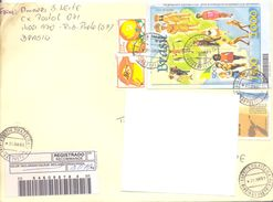 1999. Brazil, The Letter Sent By Registered Air-mail Post To Moldova - Brazilië