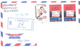 1999. Ecuador, The Letter Sent  Registered Air-mail Post To Moldova - Ecuador