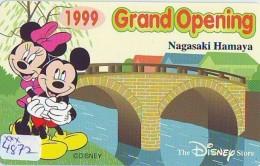Télécarte NEUVE JAPON * 110-206052 * DISNEY STORE (4872) PHONECARD MINT JAPAN * Tk * GRAND OPENING * TIRAGE 3.000 * - Disney