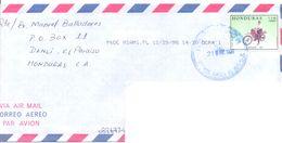 1998. Honduras, The Letter Sent  Air-mail Post To Moldova - Honduras
