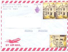 1998. Peru, The Letter Sent  Air-mail Post To Moldova - Peru