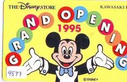 Télécarte JAPON * 110-166702 * DISNEY STORE (4877) PHONECARD JAPAN * Telefonkarte * GRAND OPENING * TIRAGE 4.000 - Disney